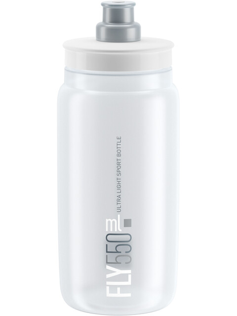 Elite Fly Trinkflasche 550ml clear/graues Logo